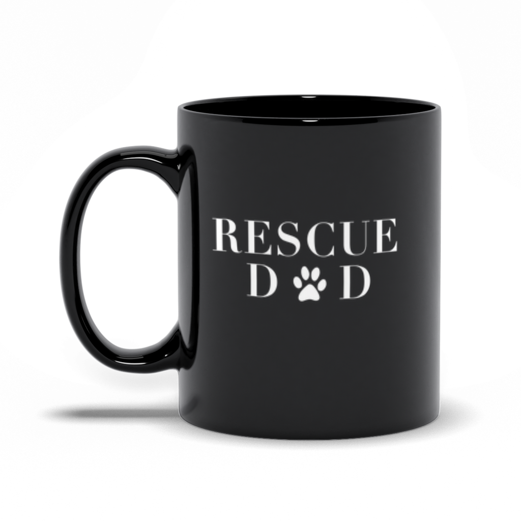 Rescue Dad Black Mug