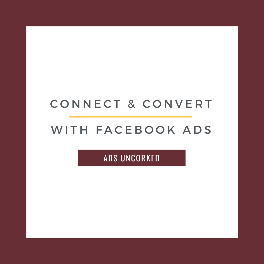 Connect + Convert with Facebook Ads | Comprehensive Ads Course