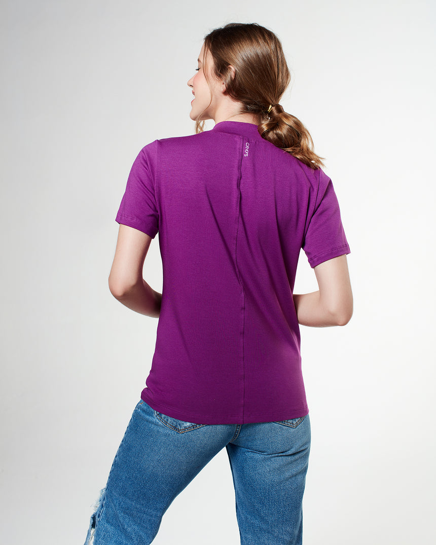 Camiseta Lisa Super Premium Camys por Francesca Pop Purple