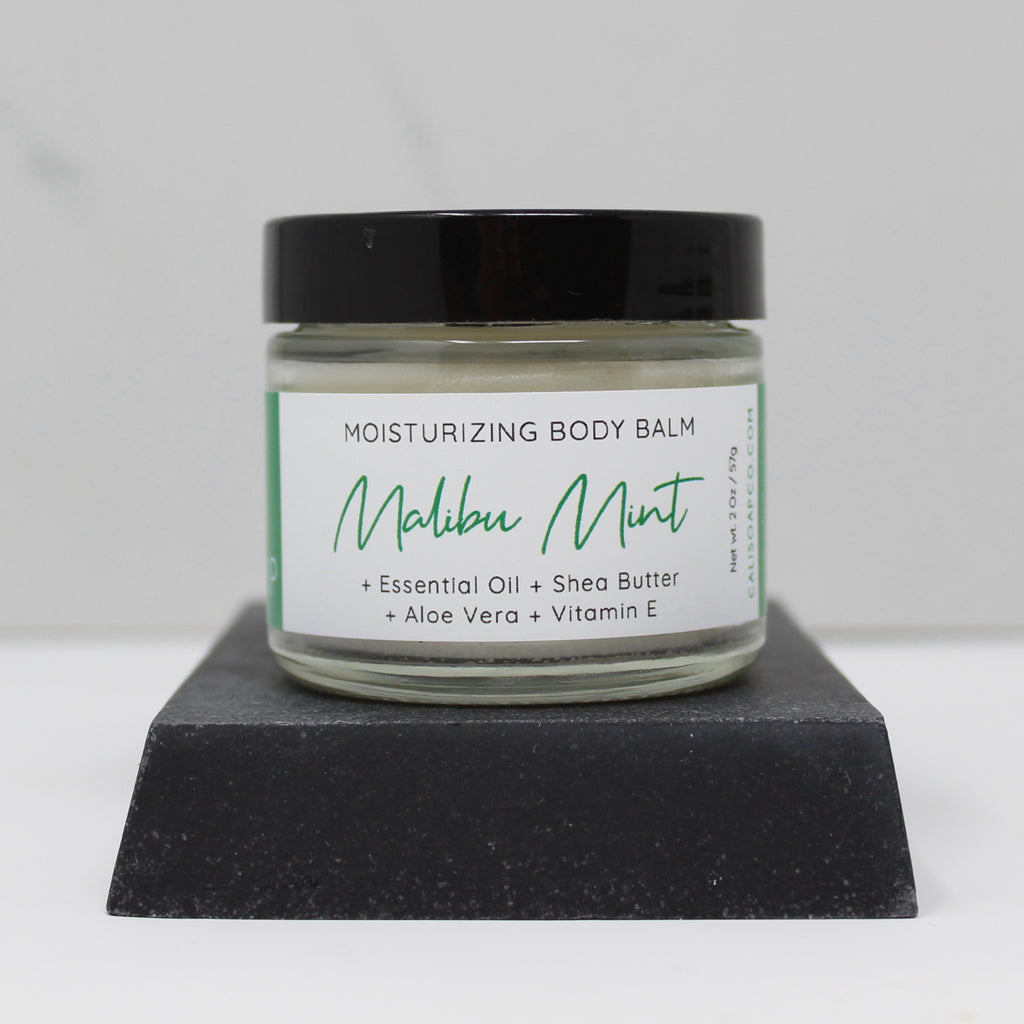 Malibu Mint - Moisturizing Body Balm + Vitamin E & Aloe Vera (2oz)