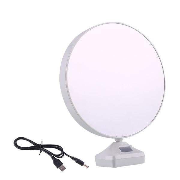 880 Plastic 2 in 1 Mirror Come Photo Frame with Led Light