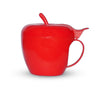 864 Meriapnidukan Green apple shaped plastic tea/coffee mug or cup with lid