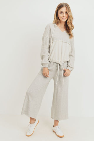 Cropped Wideleg Knit Pant