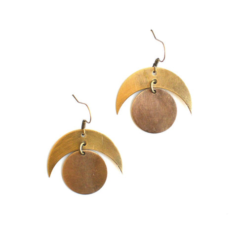 Crested Moon Earrings