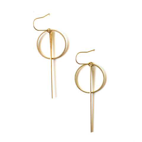 Brass Axis Earrings