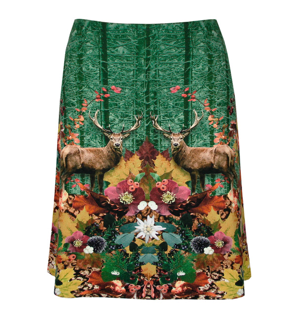 AAA reversible skirt Waldeslust / owl