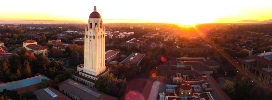 stanford at sunset