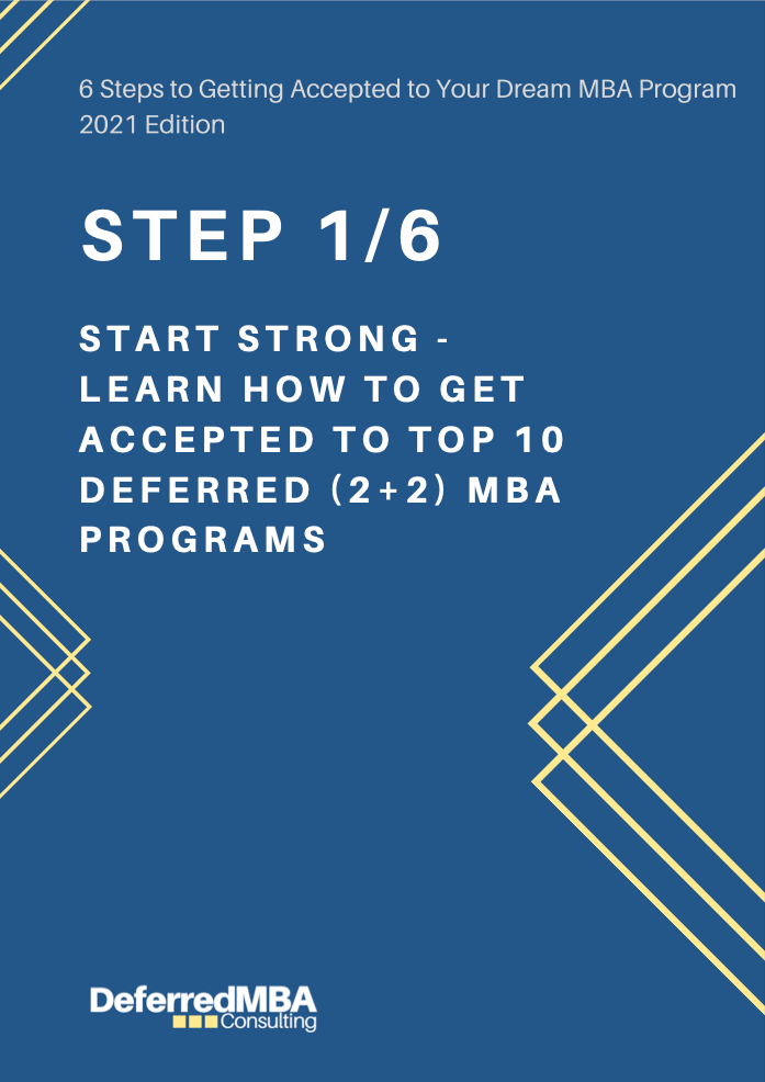 [FREE] Step 1/6: Start Strong - Learn How to Get Accepted to Top 10 Deferred (2+2) MBA Programs