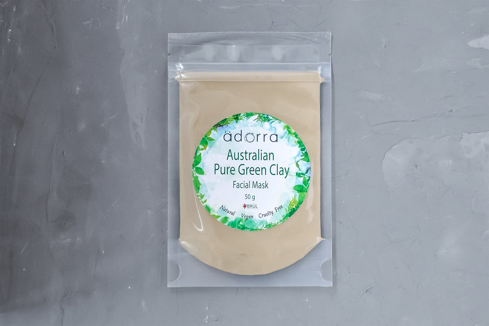 AUSTRALIAN PURE GREEN CLAY Facial Mask - BRUL HERBALS