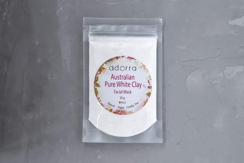 AUSTRALIAN PURE WHITE CLAY Facial Mask - BRUL HERBALS