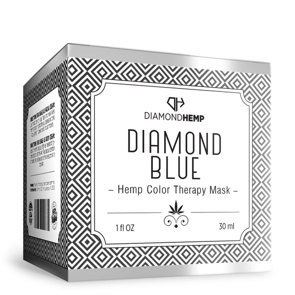 Hemp Color Therapy Mask Diamond Blue - 100mg