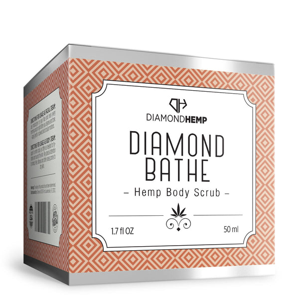 Hemp Body Scrub Diamond Bathe - 100mg