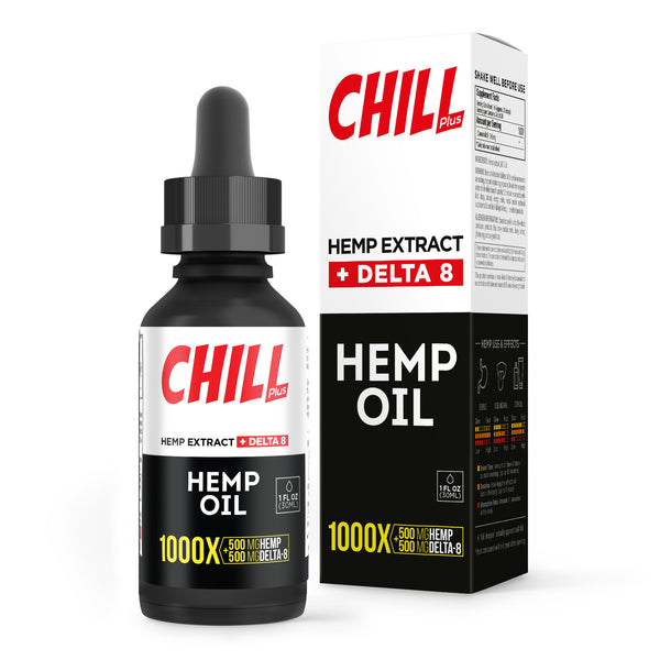 Hemp Infused Delta-8 Oil - 1000X