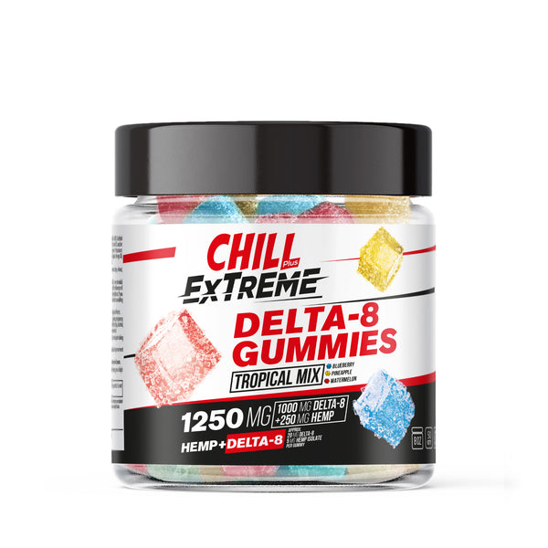 Hemp Infused Extreme Tropical Mix Gummies - 1250X