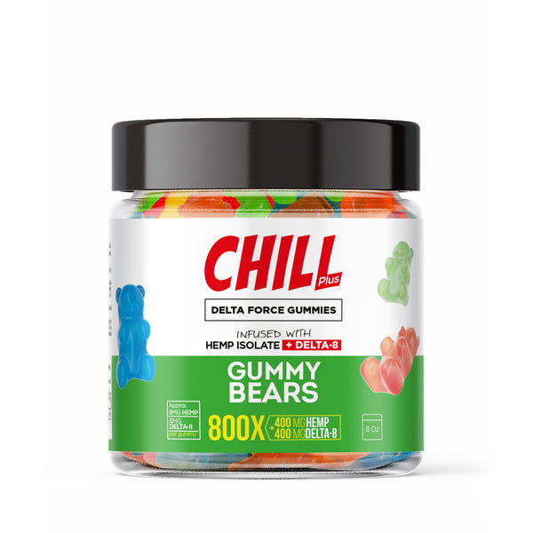 Hemp Infused Delta-8 Gummy Bears - 800X