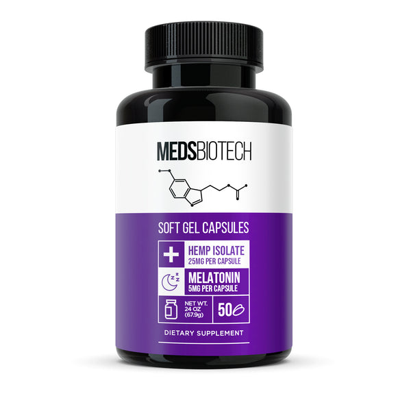 Hemp & Melatonin Gel Capsules - 1250mg