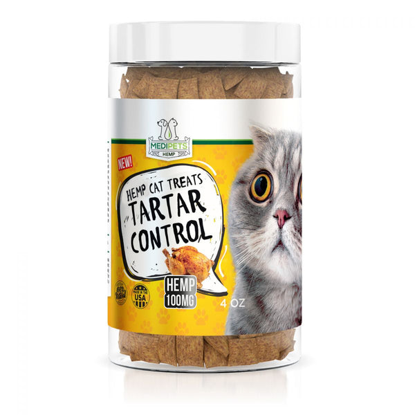 MediPets Hemp Infused Cat Treats - Cat Cafe´ Tartar Control - 100mg