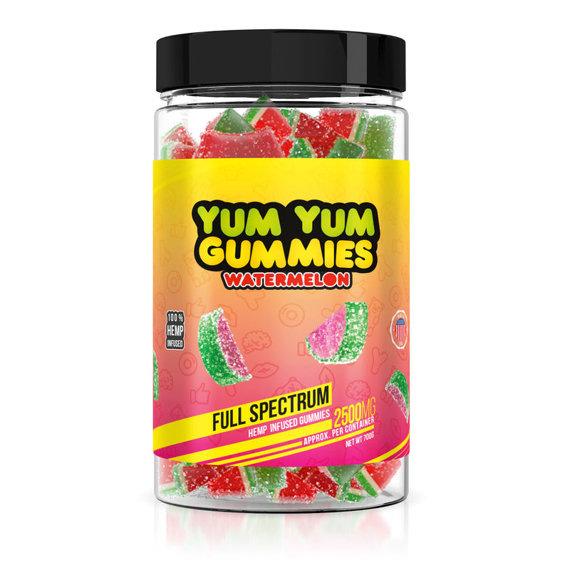 Yum Yum Gummies - Hemp Infused Watermelon Slices - 2500mg