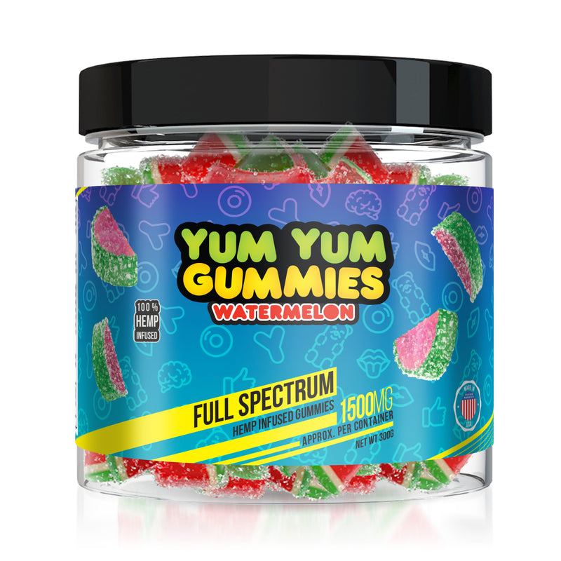 Yum Yum Gummies - Hemp Infused Watermelon Slices