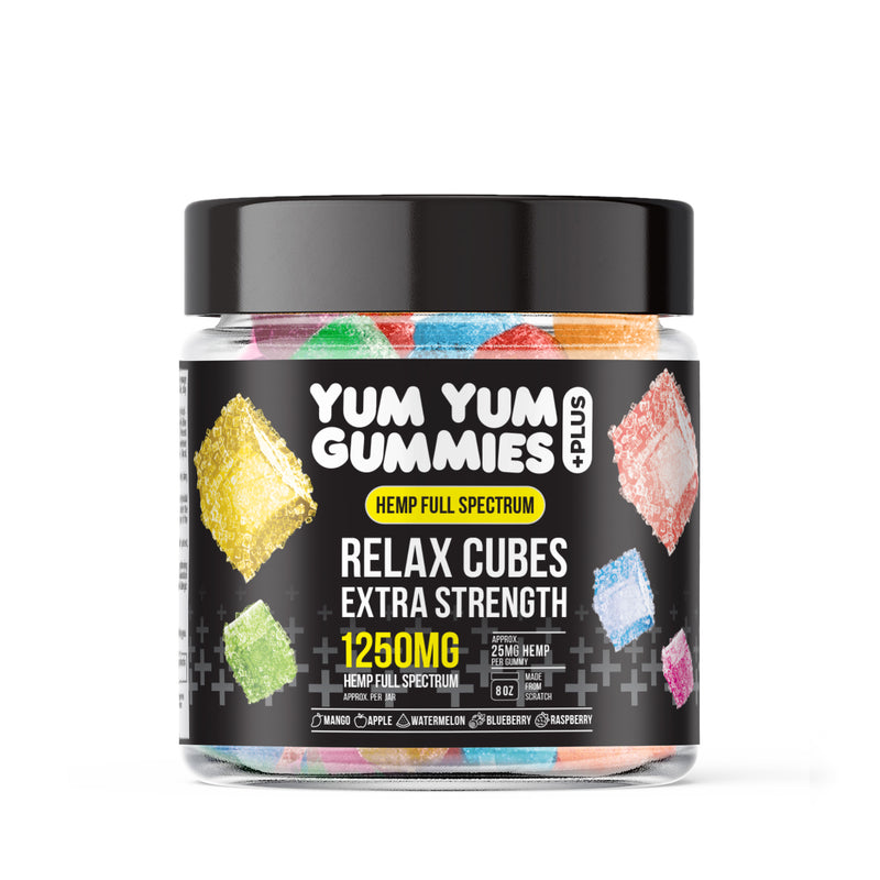 Yum Yum Gummies - Hemp Infused Relax Relax Cubes - 1250mg