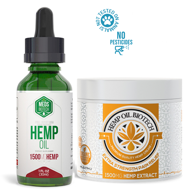 Biotech Hemp Bundle - Meds Biotech Hemp Oil + Biotech Hemp Cream