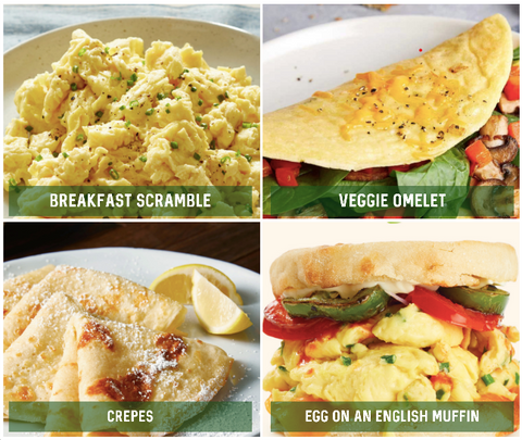JUST Egg Vegan Egg meals