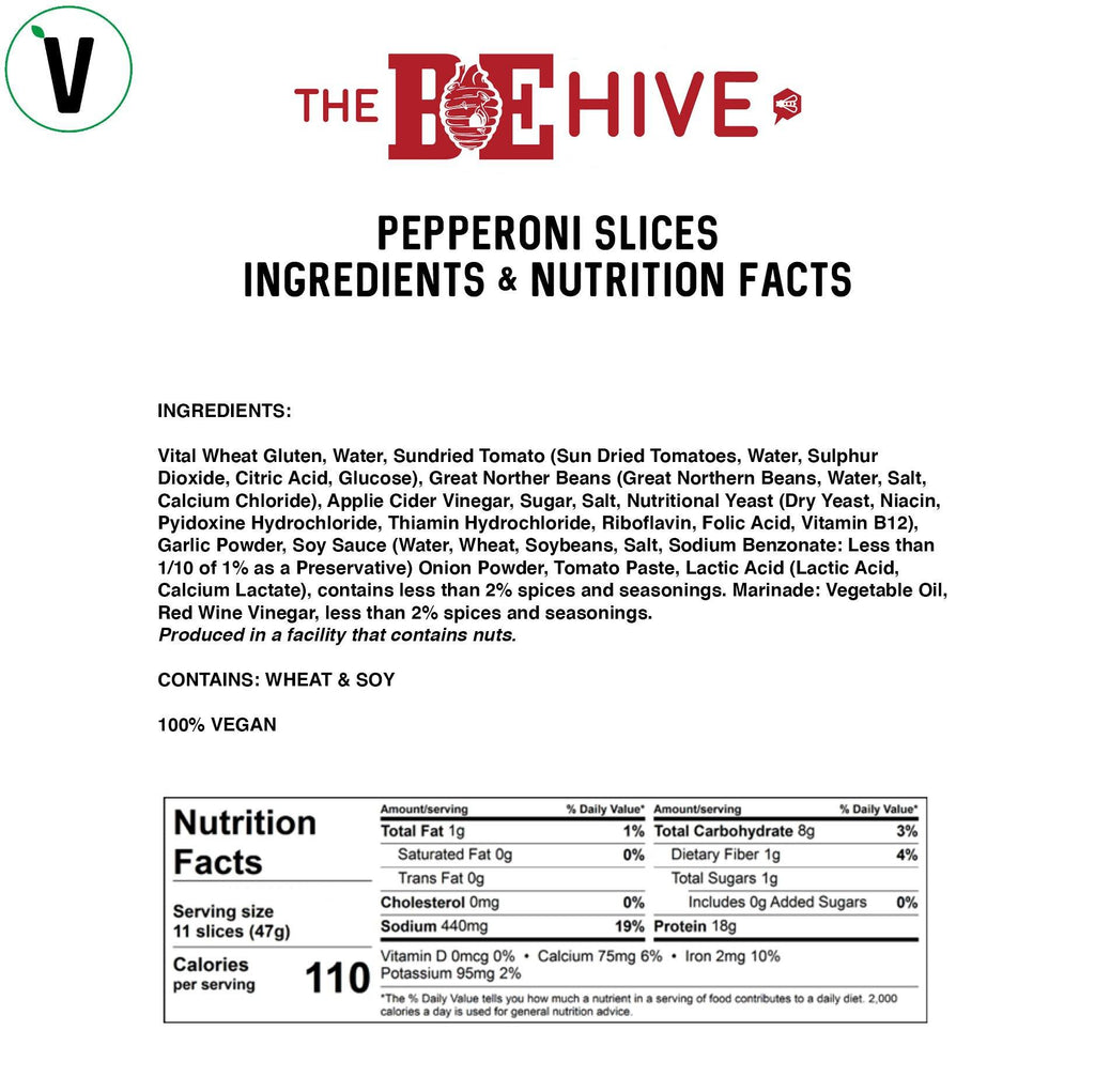 BE-Hive Vegan Pepperoni Slices Bulk nutrition