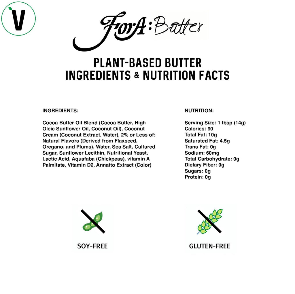 ForA:Butter Plant-Based Butter cooking instructions for bakery