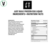 JUST Egg Vegan Egg nutrition