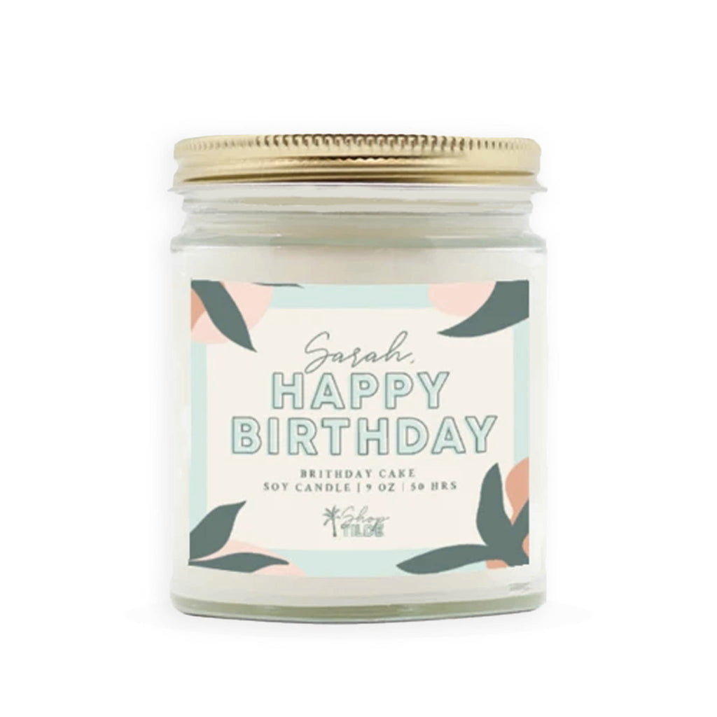 Custom Birthday Cake Soy Candle - Shop Tilde