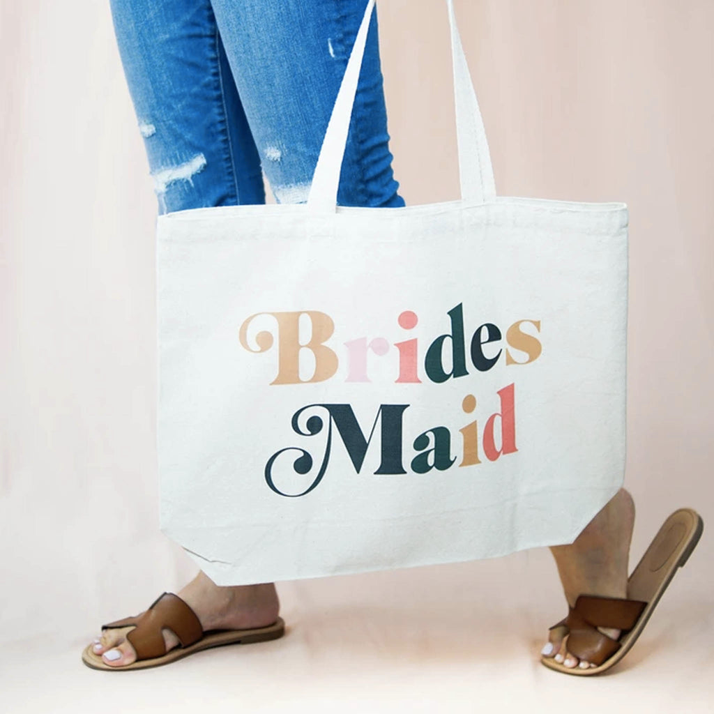 Custom Retro Bridesmaid Canvas Bag - Shop Tilde