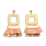Laya Woven Raffia Earrings - Shop Tilde