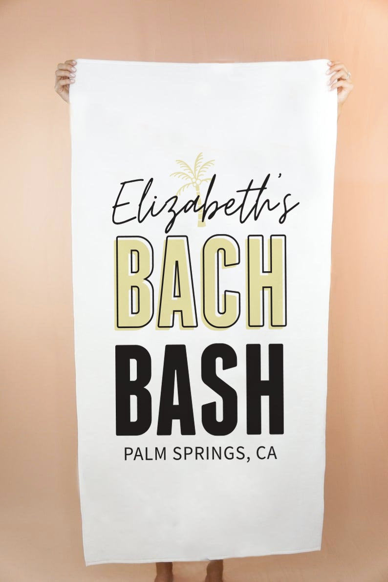 Custom Bach Bash Beach Towel - Shop Tilde