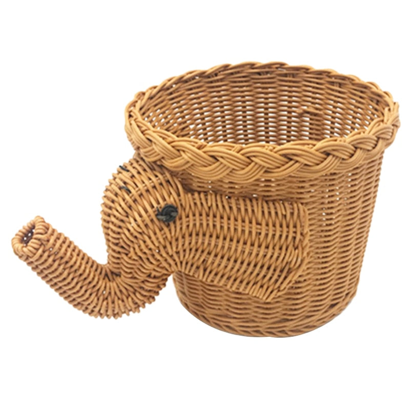 Elephant Wicker Storage Basket - Shop Tilde