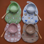 Silicone Bib & Tableware Set (With Pattern) - Shop Tilde