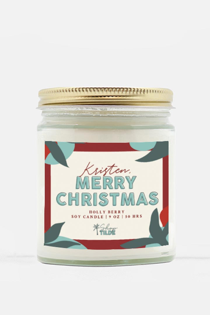 Custom Christmas Candle - Shop Tilde