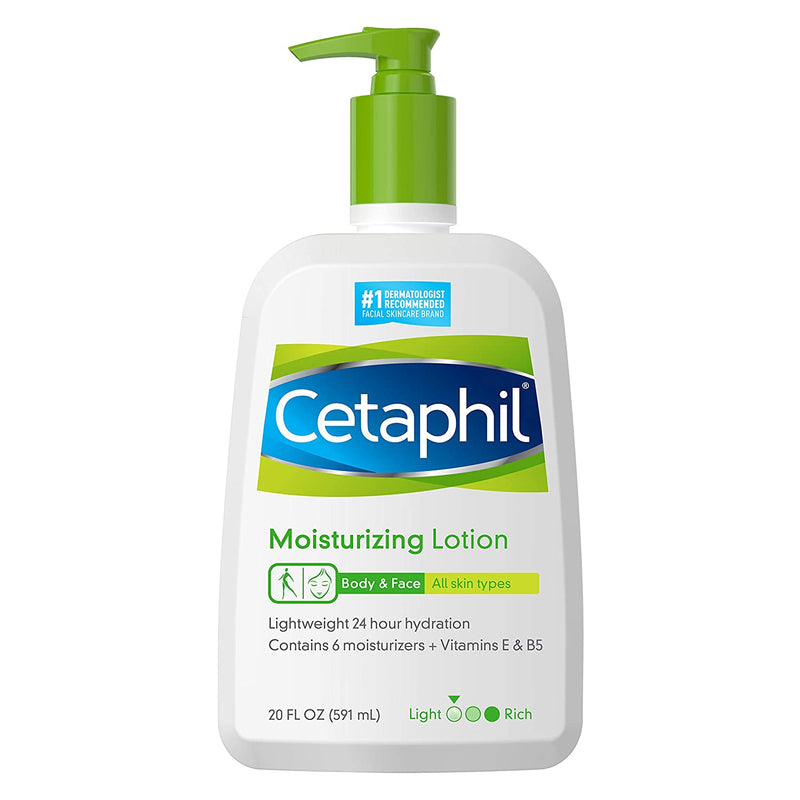 CETAPHIL Moisturizing Lotion | 20 fl oz | Instant & Long Lasting 24 Hour Hydrating Moisturizer for All Skin Types | Nourishing Lotion for Sensitive Skin | Non-Greasy | Dermatologist Recommended Brand(591 mL)