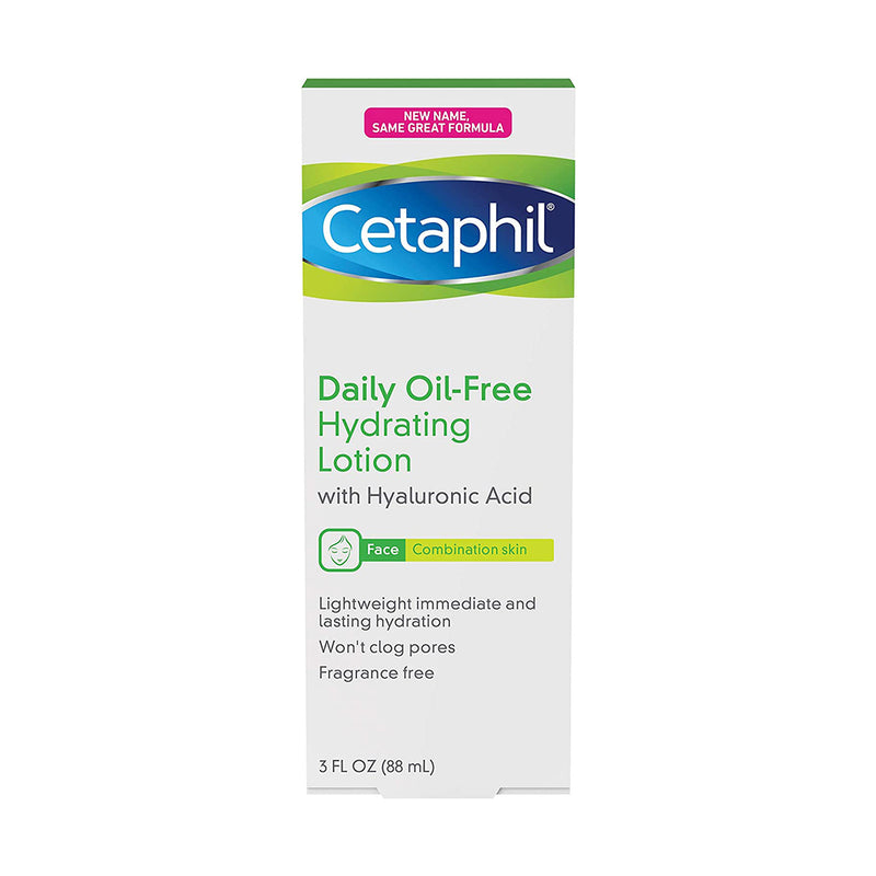Cetaphil Daily Oil-Free Hydrating Lotion with Hyaluronic Acid, 3.0 Fluid Ounce (88 mL)