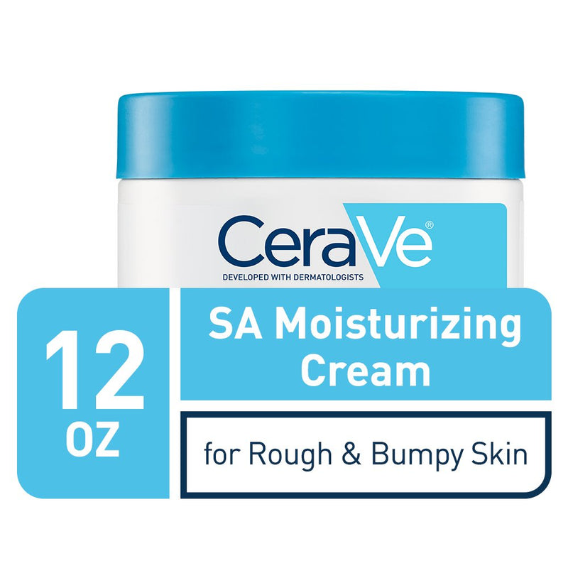 CeraVe SA Cream | 12 Ounce | Renewing Salicylic Acid Body Cream for Rough and Bumpy Skin | Fragrance Free (340 g)