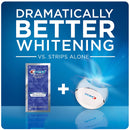 Crest 3D White Whitestrips with Light, Teeth Whitening Strips Kit, 10 Treatments, 20 Individual Strips