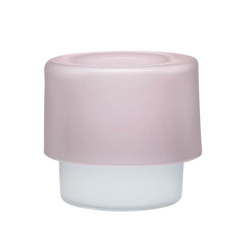 Nude Glass Orchid Pot Opal Pink with Woorden Base (1050 ml)
