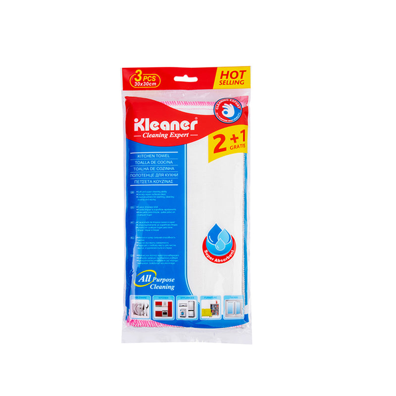 Kleaner Kitchen Towel 3 pcs (8 Layers of Absorbance)