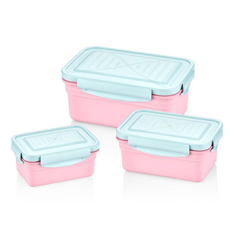 Bager - Colored Locked Storage Container - 3 Pcs
