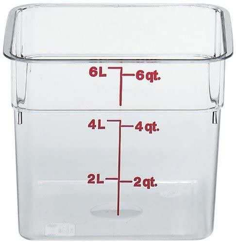 Cambro Camsquare Food Pan with Lid  5.6 L