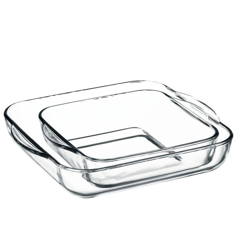 Borcam Rectangular Ovenware Set 2 pcs 3200 ml & 1950 ml