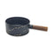 Marble Black Decorated Serving Pan with Lid & Base & Handle