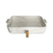 Marble White Decorated Serving Dish with Base & Handles 2 pcs Large