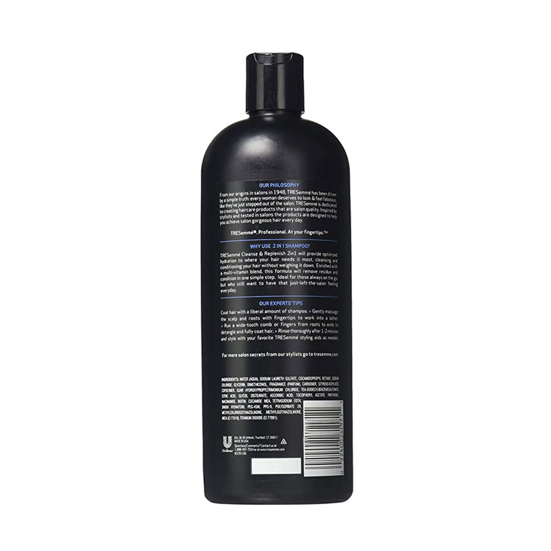 TRESemmé 2 in 1 Shampoo and Conditioner Cleanse and Replenish (828 ml)