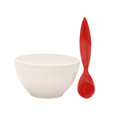 Zak Bowl & Spoon (White) 2 Pcs
