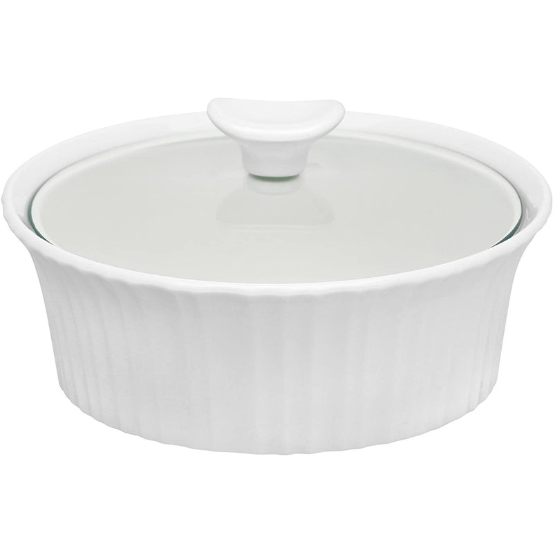 White Casserole Dish by CorningWare 1.4 Litres-Food Serving Porcelain